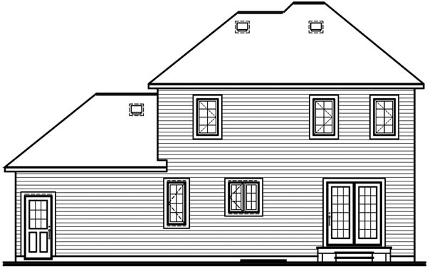 Country House Plan 64963 Rear Elevation