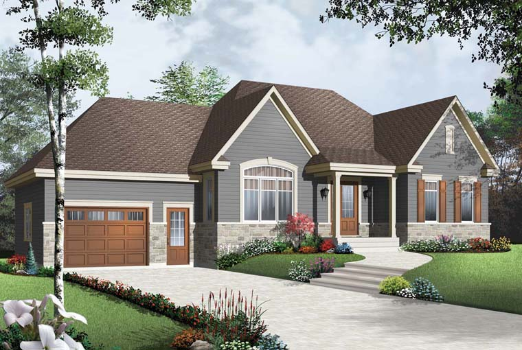 Country House Plan 64966 Elevation