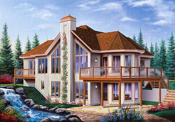 Contemporary, Craftsman House Plan 64972 with 2 Beds, 2 Baths, 1 Car Garage Elevation