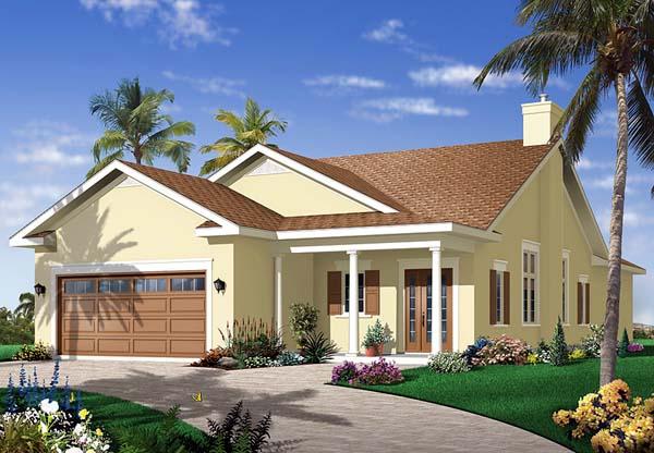 Florida House Plan 64978 Elevation