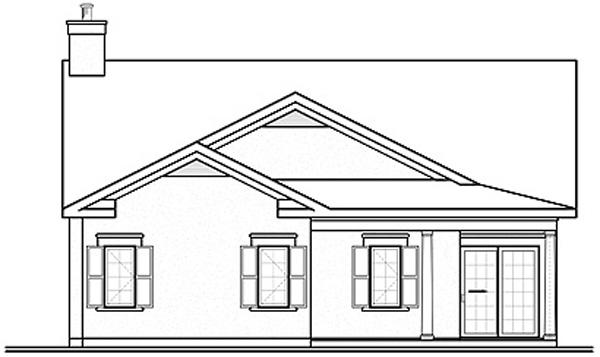 Florida House Plan 64978 Rear Elevation