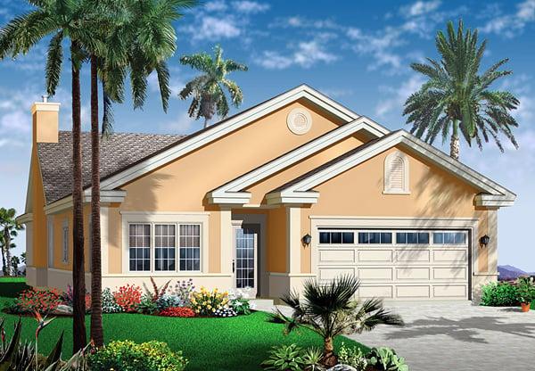 Florida House Plan 64979 Elevation