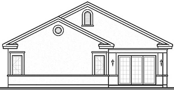 Florida House Plan 64979 Rear Elevation