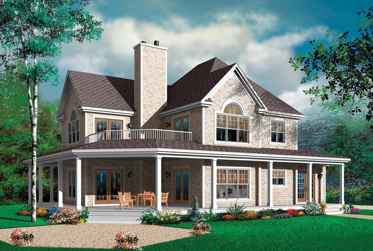 Country Farmhouse House Plan 64980 Elevation