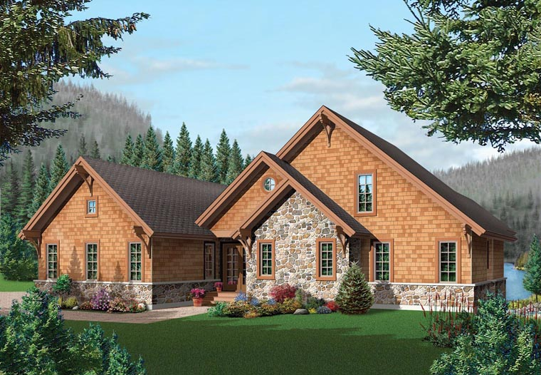 House Plan at FamilyHomePlans comCoastal Country Craftsman House Plan Elevation