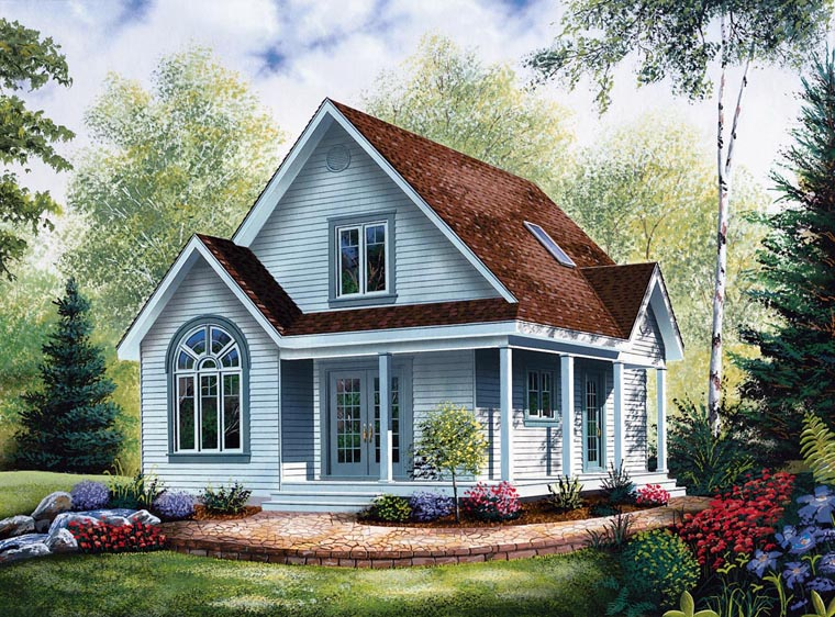 Delicieux Cabin Country House Plan 64983 Elevation