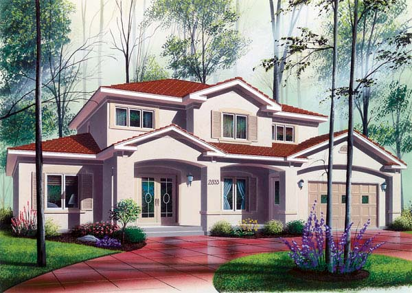 Florida House Plan 64984 with 6 Beds, 5 Baths, 2 Car Garage Elevation