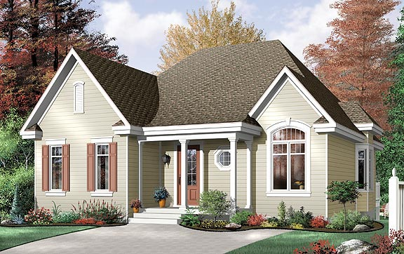 Traditional House Plan 64994 Elevation