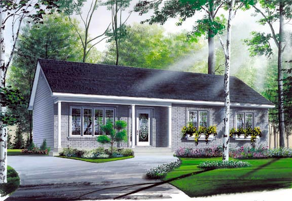 Ranch House Plan 64998 Elevation