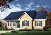 Plan Number 65006 - 1339 Square Feet