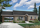 Plan Number 65009 - 947 Square Feet