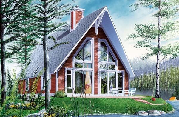 A-Frame Contemporary House Plan 65010 Elevation