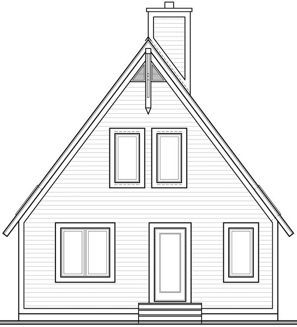 A-Frame Contemporary House Plan 65010 Rear Elevation