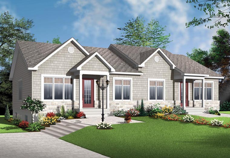 Craftsman Style Multi-Family Plan 65017 with 4 Bed, 2 Bath on 2 bedroom house plans in ghana, 6 bedroom house plans in ghana, 3 bedroom house plans in ghana,
