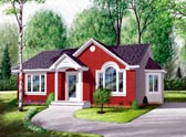 Plan Number 65030 - 970 Square Feet
