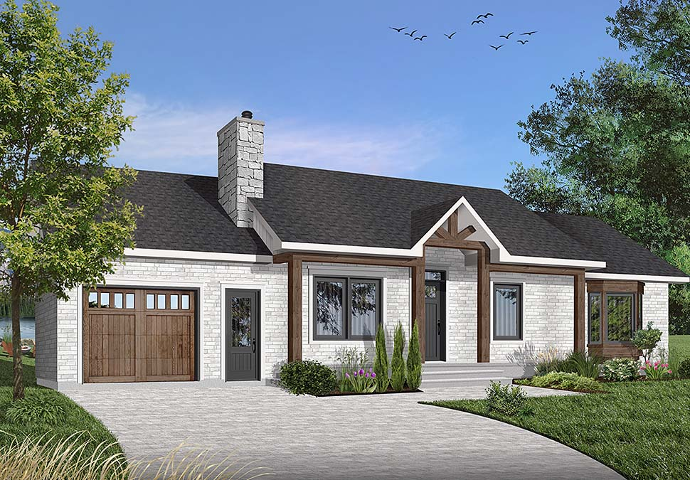 Ranch House Plan 65032 Elevation