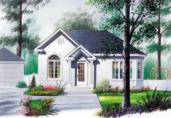 European Traditional House Plan 65034 Elevation