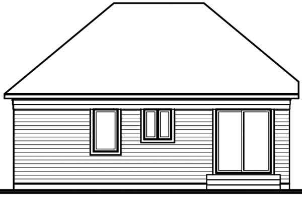 European Traditional House Plan 65034 Rear Elevation