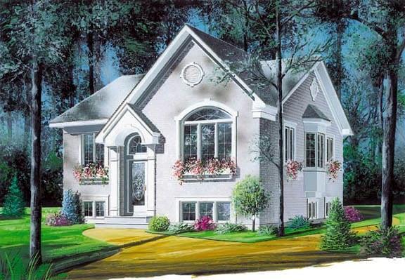 European House Plan 65037 Elevation