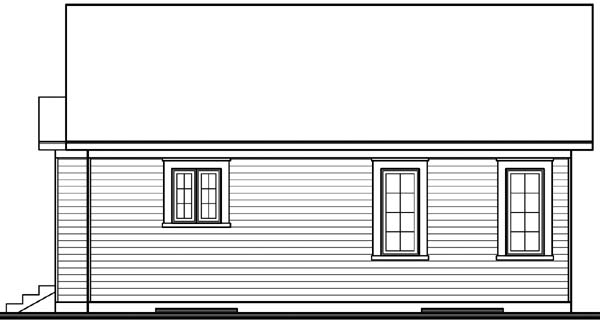 Cabin Country Ranch House Plan 65045 Rear Elevation