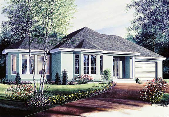 Traditional House Plan 65062 Elevation