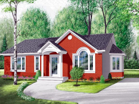 Bungalow Ranch Traditional House Plan 65071 Elevation