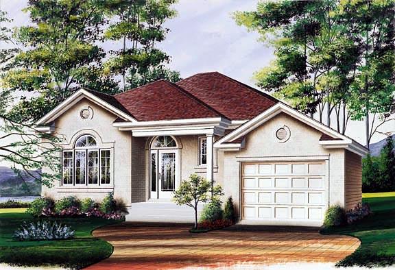 European House Plan 65078 Elevation