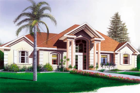 Colonial European Florida House Plan 65083 Elevation