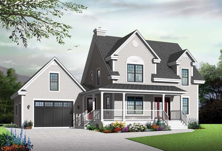 Country Farmhouse House Plan 65088 Elevation