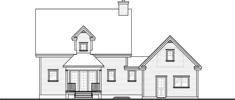 Country Farmhouse House Plan 65088 Rear Elevation
