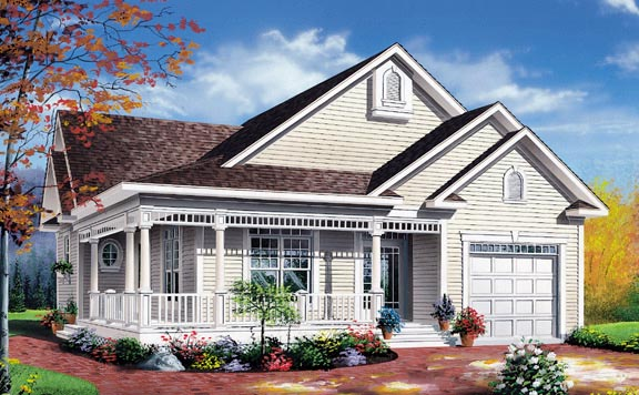 Country House Plan 65092 Elevation
