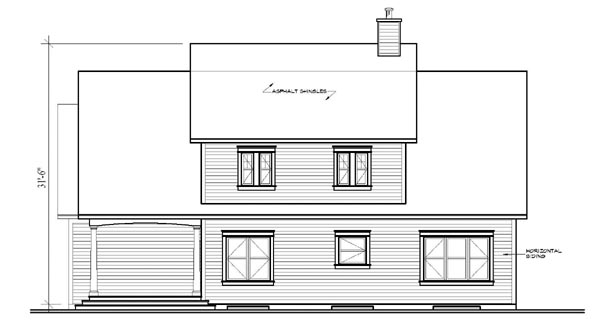 Traditional House Plan 65100 Rear Elevation