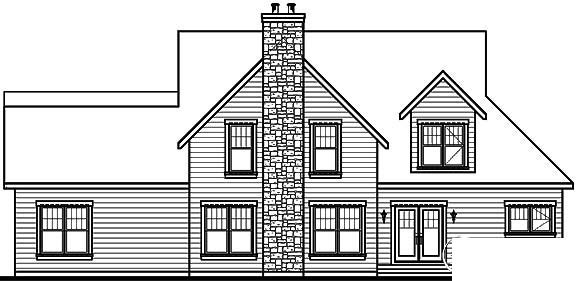 Traditional House Plan 65105 Rear Elevation