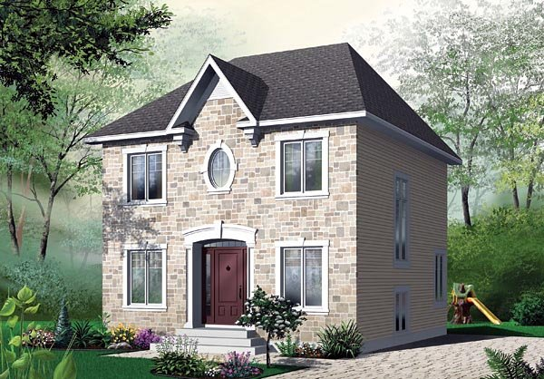 Colonial House Plan 65117 Elevation