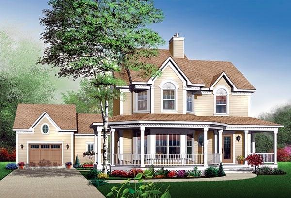 Farmhouse House Plan 65118 Elevation