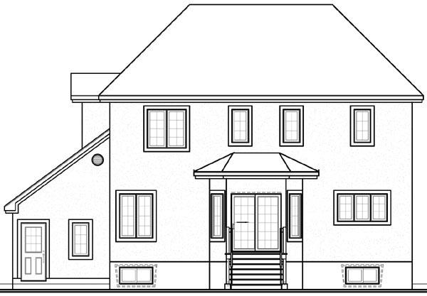 European Victorian House Plan 65124 Rear Elevation