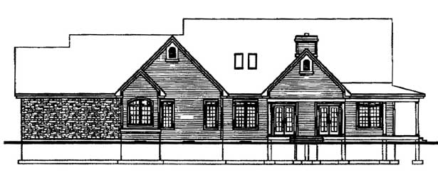 Country Ranch Traditional House Plan 65126 Rear Elevation