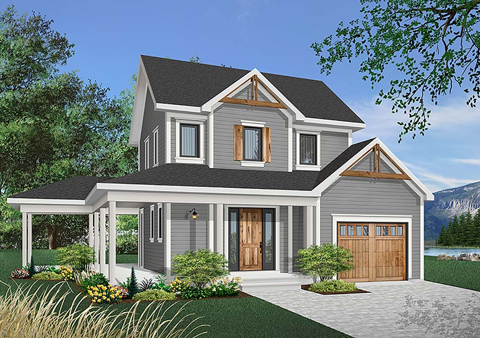 Country Farmhouse House Plan 65134 Elevation