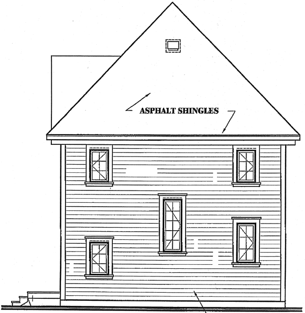 Country Farmhouse House Plan 65134 Rear Elevation