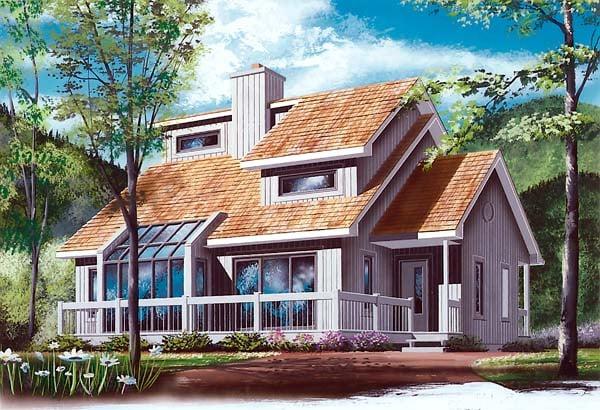 Contemporary Craftsman House Plan 65141 Elevation