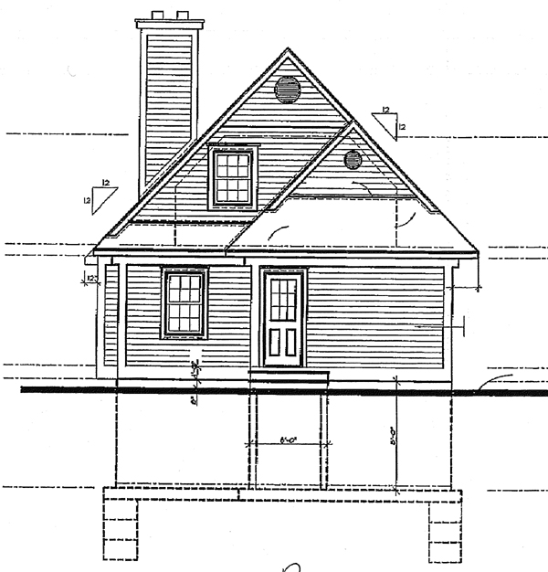 Country House Plan 65142 Rear Elevation