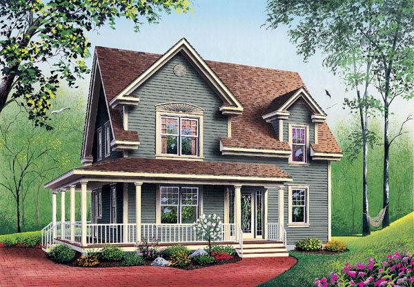 Country Farmhouse House Plan 65147 Elevation