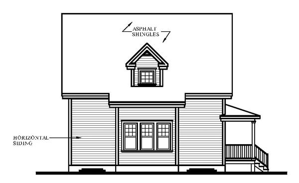 Country Farmhouse House Plan 65147 Rear Elevation