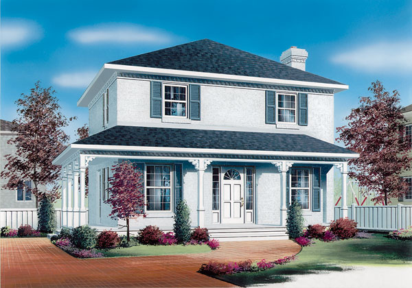Country House Plan 65151 with 3 Beds, 2 Baths Elevation