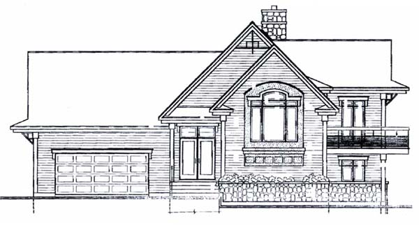 Coastal Craftsman Traditional House Plan 65157 Rear Elevation
