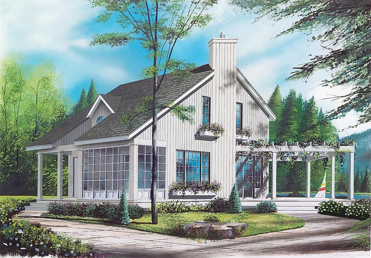Contemporary House Plan 65161 Elevation