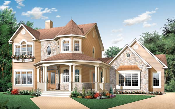 house plan 65177 country victorian plan with 1936 sq ft