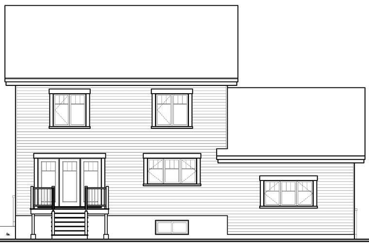 Craftsman House Plan 65192 Rear Elevation