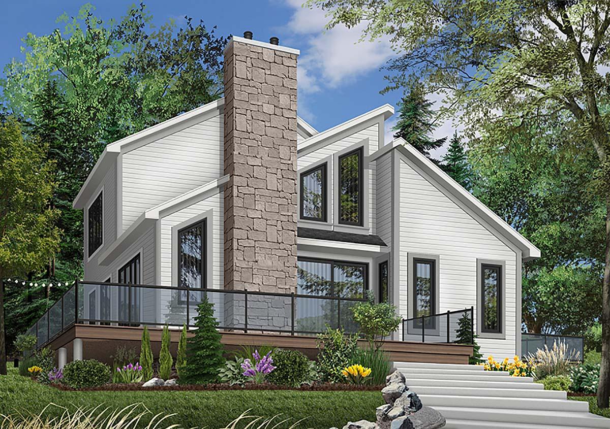 Contemporary Craftsman House Plan 65195 Elevation