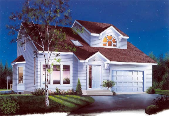 Contemporary Traditional House Plan 65197 Elevation